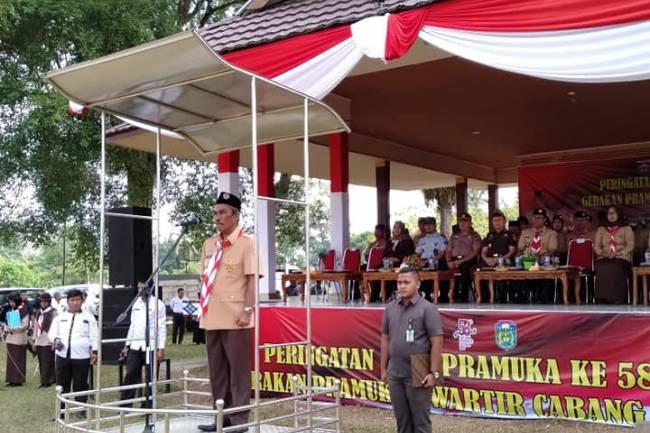 WAKIL BUPATI TEBO PEMBINA UPACARA HARI PRAMUKA TAHUN 2019