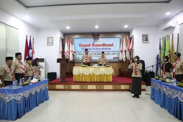 Dewan Kehormatan Kwarcab Tebo Ikuti Rakor di Jambi
