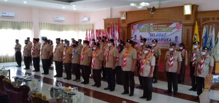 Wakil Bupati Tebo Hadiri Peringatan Hari Pramuka Tahun 2020